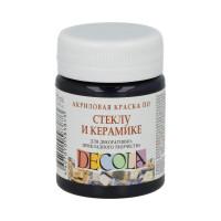 """DECOLA  """"DECOLA"""" Краска по стеклу и керамике 50 мл 4028810 черная"""