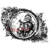 Deep Red Stamps 4x604427_1 Резиновый штамп «Vintage Santa», 11,4x13,2см