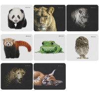 DEFENDER 50803 Коврик для мыши DEFENDER Wild Animals, резина+джерси, 220x180x2 мм, 8 видов, 50803