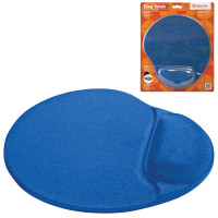 DEFENDER 50916 Коврик для мыши DEFENDER Easy Work, синий, полиуретан+покрытие лайкра, 260х225х5 мм, синий, 50916