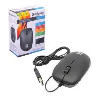 DEFENDER 52010 Мышь проводная DEFENDER Datum MM-010, USB, 2 кнопки + 1 колесо-кнопка, оптическая, черная, 52010