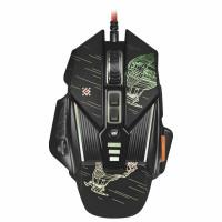 DEFENDER 52390 Мышь проводная игровая DEFENDER sTarx GM-390L, USB, 7 кнопок+1 колесо-кнопка, оптическая, черная, 52390