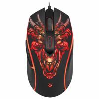 DEFENDER 52510 Мышь проводная игровая DEFENDER Monstro GM-510L, USB, 5 кнопок + 1 колесо-кнопка, оптическая, черная, 52510