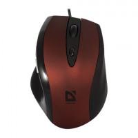 DEFENDER 52832 Мышь проводная DEFENDER Opera 880, USB, 5 кнопок + 1 колесо-кнопка, оптическая, красно-черная, 52832