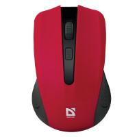 DEFENDER 52937 Мышь беспроводная DEFENDER Accura MM-935, 3 кнопки + 1 колесо-кнопка, оптическая, красная, 52937