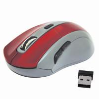 DEFENDER 52966 Мышь беспроводная DEFENDER ACCURA MM-965, USB, 5 кнопок + 1 колесо-кнопка, оптическая, красно-серая, 52966