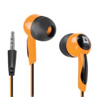 DEFENDER 63606 Наушники DEFENDER Basic 604, проводные, 1,2 м, вкладыши, черные с оранжевым, 63606