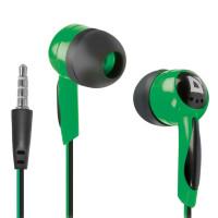 DEFENDER 63607 Наушники DEFENDER Basic 604, проводные, 1,2 м, вкладыши, черные с зеленым, 63607