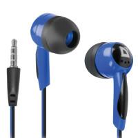 DEFENDER 63608 Наушники DEFENDER Basic 604, проводные, 1,2 м, вкладыши, черные с голубым, 63608