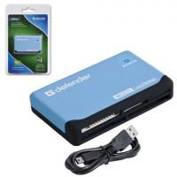 DEFENDER 83500 Картридер DEFENDER ULTRA, USB 2.0, порты SD, MMC, TF, M2, CF, XD, MS, 83500