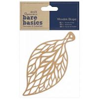 """Docrafts PMA174623 Декоративный элемент """"Ажурный лист"""" (дерево) Bare Basics"""