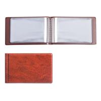 ДПС 2054-104 Визитница однорядная на 28 визитных, дисконтных или кредитных карт, коричневая, 2054-104
