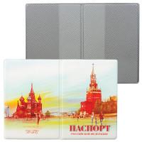 ДПС 2203.ПС Обложка для паспорта, ПВХ, полноцветный рисунок, дизайн ассорти, ДПС, 2203.ПС