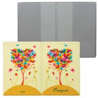 """ДПС 2203.Т6 Обложка для паспорта """"Дерево"""", кожзам, полноцветный рисунок, ДПС, 2203.Т6"""