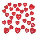 """Dress It Up 0242_DIU Набор декоративных пуговиц """"Красные сердца"""""""