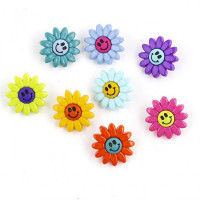 Dress It Up 0870_1 Набор декоративных пуговиц «Dress It Up» 0870 Веселые цветочки