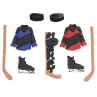 Dress It Up 1294_1 Набор декоративных пуговиц «Dress It Up» 1294 Хоккей