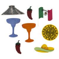Dress It Up 3571_1 Набор декоративных пуговиц «Dress It Up» 3571 Мексика