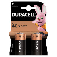 DURACELL  Батарейки DURACELL Basic, С (LR14, 14А), алкалиновые, КОМПЛЕКТ 2 шт., в блистере