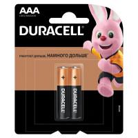 DURACELL  Батарейки КОМПЛЕКТ 2 шт., DURACELL Basic, AAA (LR03, 24А), алкалиновые, мизинчиковые, блистер