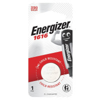 ENERGIZER 7638900019773 Батарейка ENERGIZER CR 1616, литиевая, d=16 мм, h=1,6 мм, в блистере (1 шт.), 3 В, 7638900019773