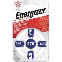 ENERGIZER E001082205 Батарейки для слуховых аппаратов КОМПЛЕКТ 4 шт., ENERGIZER Zinc Air 675, блистер, E001082205