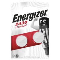 ENERGIZER E300830301 Батарейки ENERGIZER, CR 2430, литиевые, КОМПЛЕКТ 2 шт., в блистере, E300830301
