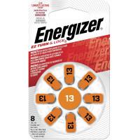 ENERGIZER E301431601 Батарейки для слуховых аппаратов КОМПЛЕКТ 8 шт., ENERGIZER Zinc Air 13, блистер, E301431601