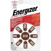 ENERGIZER E301431801 Батарейки для слуховых аппаратов КОМПЛЕКТ 8 шт., ENERGIZER Zinc Air 312, блистер, E301431801