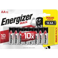 ENERGIZER E301531401 Батарейки КОМПЛЕКТ 12 шт., ENERGIZER Max, AA (LR06, 15А), алкалиновые, пальчиковые, блистер, E301531401
