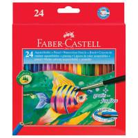 "FABER-CASTELL 114425 Карандаши цветные акварельные FABER-CASTELL ""Colour Pencils"", 24 цвета + кисть, 114425"