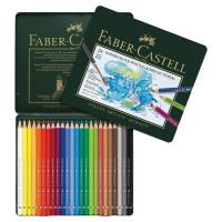 """FABER-CASTELL 117524 Карандаши цветные акварельные художественные FABER-CASTELL """"Albrecht Durer"""", 24 цвета, металлическая коробка, 117524"""