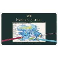 """FABER-CASTELL 117536 Карандаши цветные акварельные художественные FABER-CASTELL """"Albrecht Durer"""", 36 цветов, металлическая коробка, 117536"""