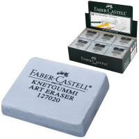 FABER-CASTELL 127220 Ластик-клячка FABER-CASTELL, 40х35х10 мм, серый, прямоугольный, натуральный каучук, 127220
