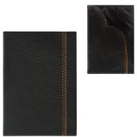 """FABULA O.70.BR Обложка-чехол для паспорта FABULA """"Brooklyn"""", натуральная кожа, контрастная отстрочка, черная, O.70.BR"""