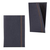 """FABULA O.70.BR Обложка-чехол для паспорта FABULA """"Brooklyn"""", натуральная кожа, контрастная отстрочка, синяя, O.70.BR"""