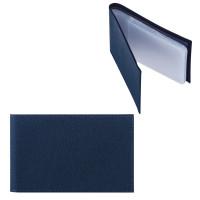 """FABULA V.1.LG Визитница карманная FABULA """"Largo"""" на 40 визиток, натуральная кожа, синяя, V.1.LG"""