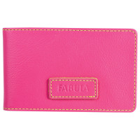 "FABULA V.90.FP Визитница карманная FABULA ""Ultra"", на 40 визиток, натуральная кожа, розовая, V.90.FP"