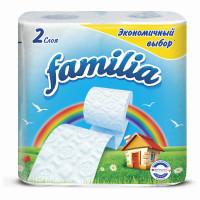 FAMILIA 5040086 Бумага туалетная бытовая, спайка 4 шт., 2-слойная (4х16,2 м), FAMILIA, белая, 5040086