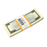 "ФИЛЬКИНА ГРАМОТА NH0000013 Блок для записей ""100 долларов"", проклеенный, 15х6х1 см, NH0000013"