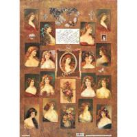 """Finmark A4-021 Декупажная карта """"Ling Hair & Roses"""""""