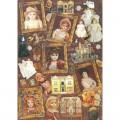 """Finmark A4-048 Декупажная карта """"Antique Dolls"""""""