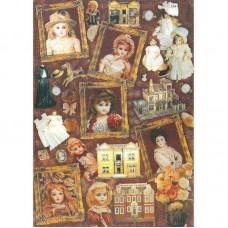 """Декупажная карта """"Antique Dolls"""" (арт. A4-048)"""