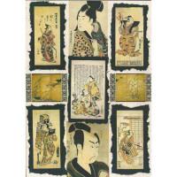 "Finmark A4-067 Декупажная карта ""Japanese Men"""