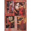 """Finmark A4-069 Декупажная карта """"Waterhouse-Woman in Red"""""""
