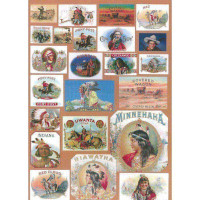 "Finmark A4-686 Декупажная карта ""Cowboys & Indians"""