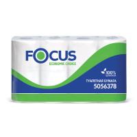 FOCUS 5056378 Бумага туалетная, спайка 8 шт., 2-слойная (8х16,2 м) Focus Economic Choice, белая, 5056378