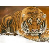 """ФРЕЯ ALV-15 Кристальная мозаика (алмазная вышивка) """"ФРЕЯ"""" ALV-15 """"Амурский тигр"""" 42 х 32 см"""