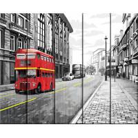 """ФРЕЯ PKW-1 65 """"ФРЕЯ"""" PKW-1 65 Набор для раскрашивания по номерам (по дереву) 40 х 50 см """"На улицах Лондона"""""""