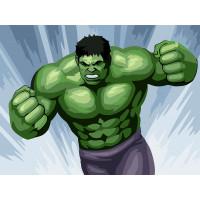"ФРЕЯ PKZ-D2 ""ФРЕЯ"" PKZ-D2 Набор для раскрашивания по номерам (на картоне) 30 х 40 см №04 ""Зеленый гигант"""